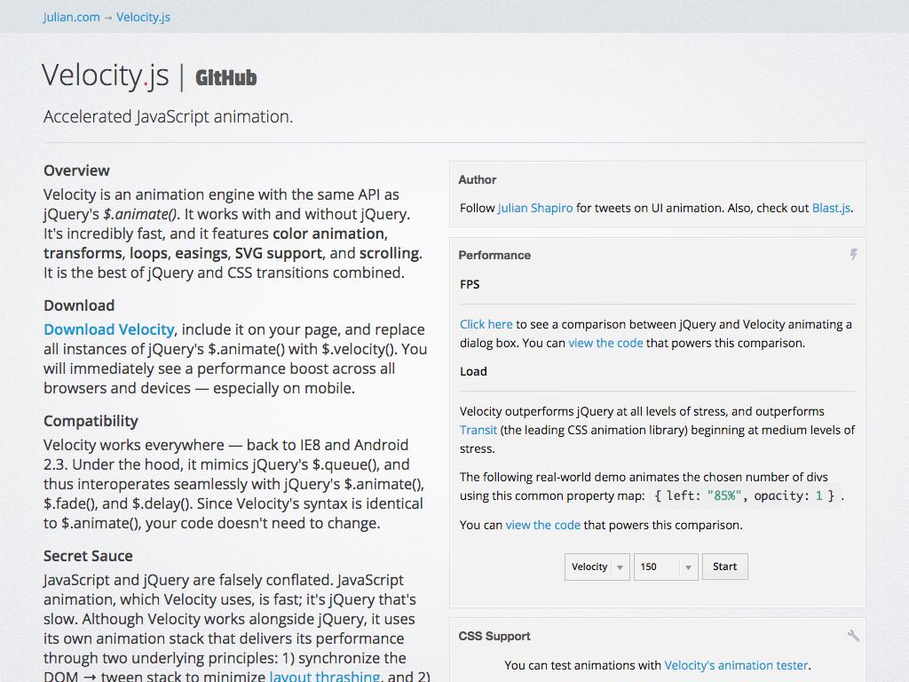 Velocityjs Screenshot